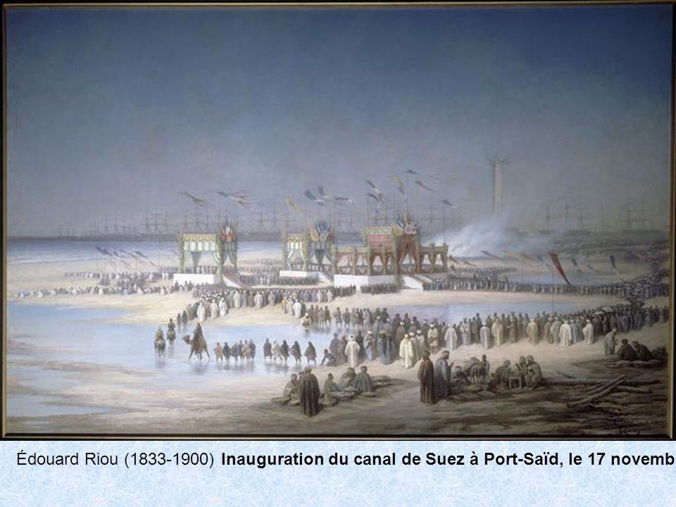 Édouard Riou (1833-1900) Inauguration du canal de Suez à Port-Saïd, le 17 novembre 1869