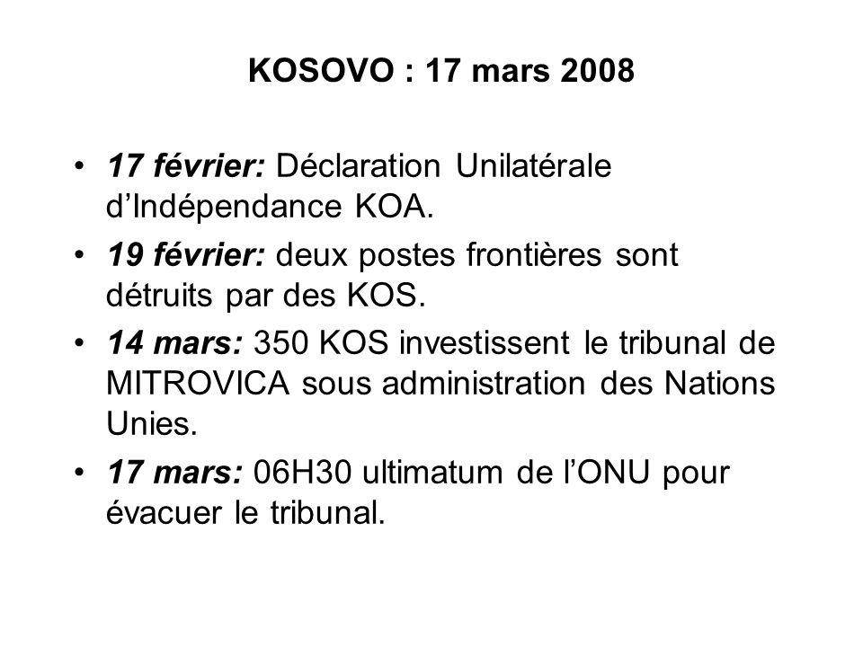 17 février: Déclaration Unilatérale dIndépendance KOA.