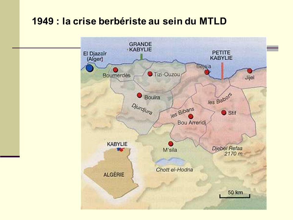 Didier Lavrut Lycée Daudet Nîmes 1949 : la crise berbériste au sein du MTLD