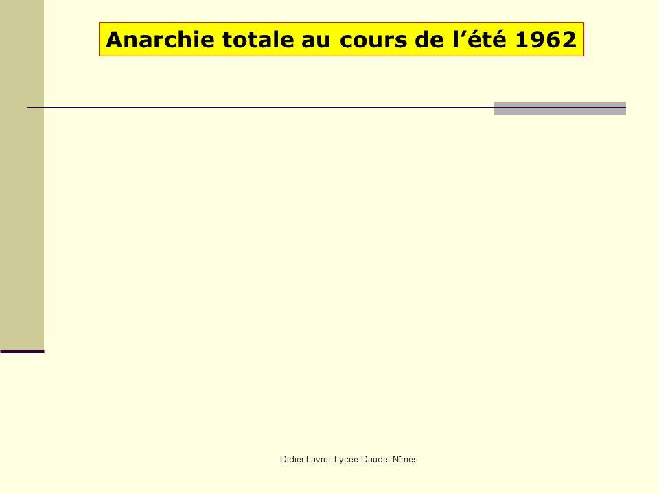 Didier Lavrut Lycée Daudet Nîmes Anarchie totale au cours de lété 1962