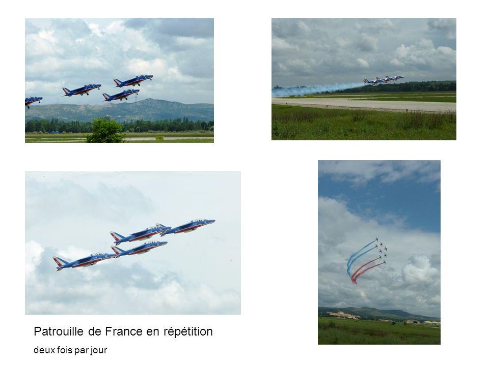 Patrouille de France en répétition deux fois par jour