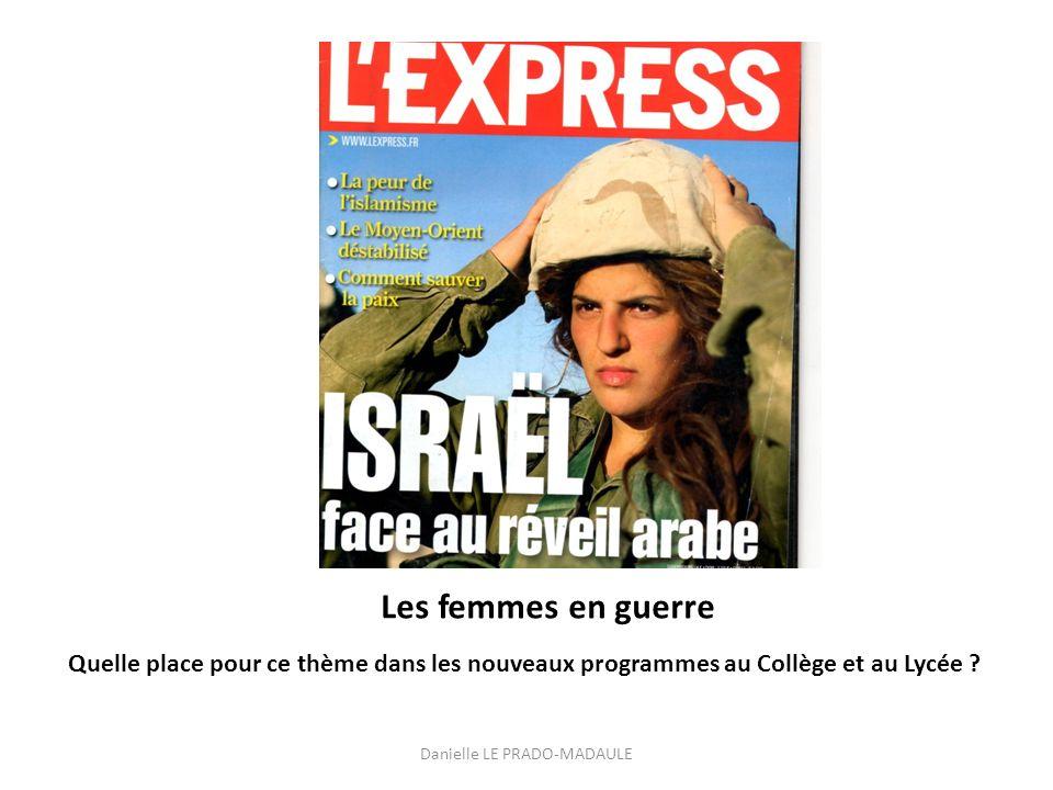 Cette couverture de lExpress, parue en 2011 choisit dillustrer un conflit actuel par une image de combattante déterminée.