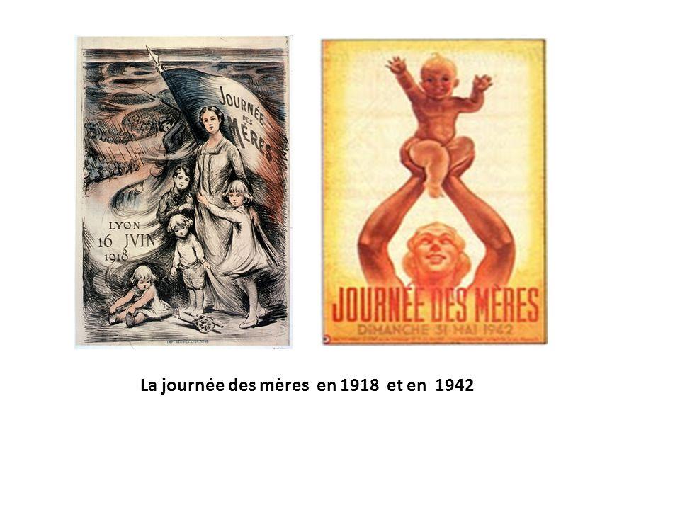 La journée des mères en 1918 et en 1942