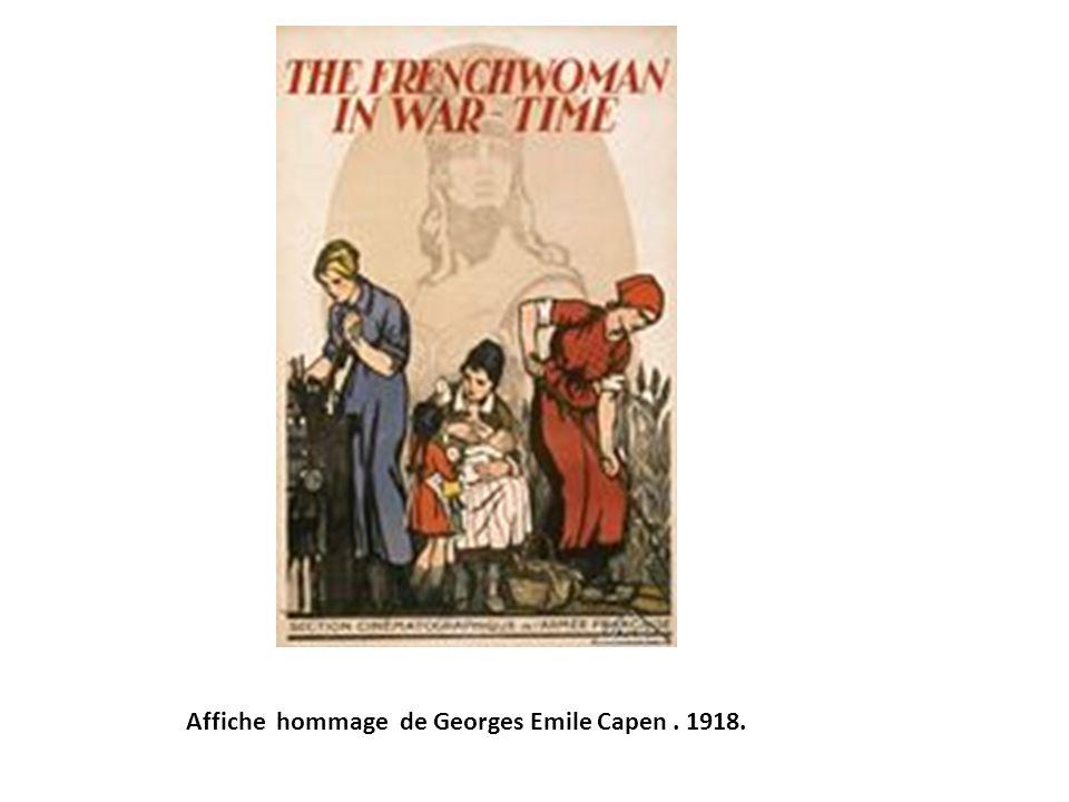 Affiche hommage de Georges Emile Capen. 1918.