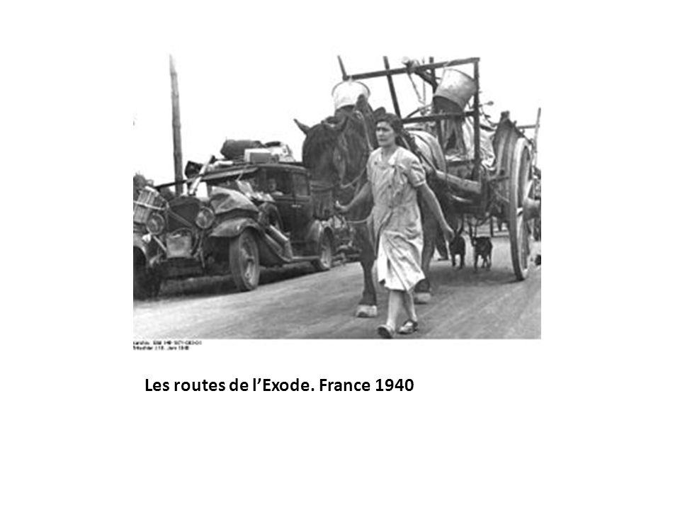 Les routes de lExode. France 1940