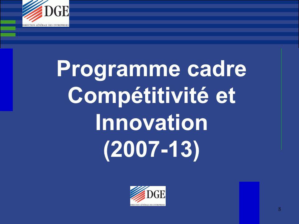 9 Pourquoi un Programme Cadre Compétitivité et Innovation.