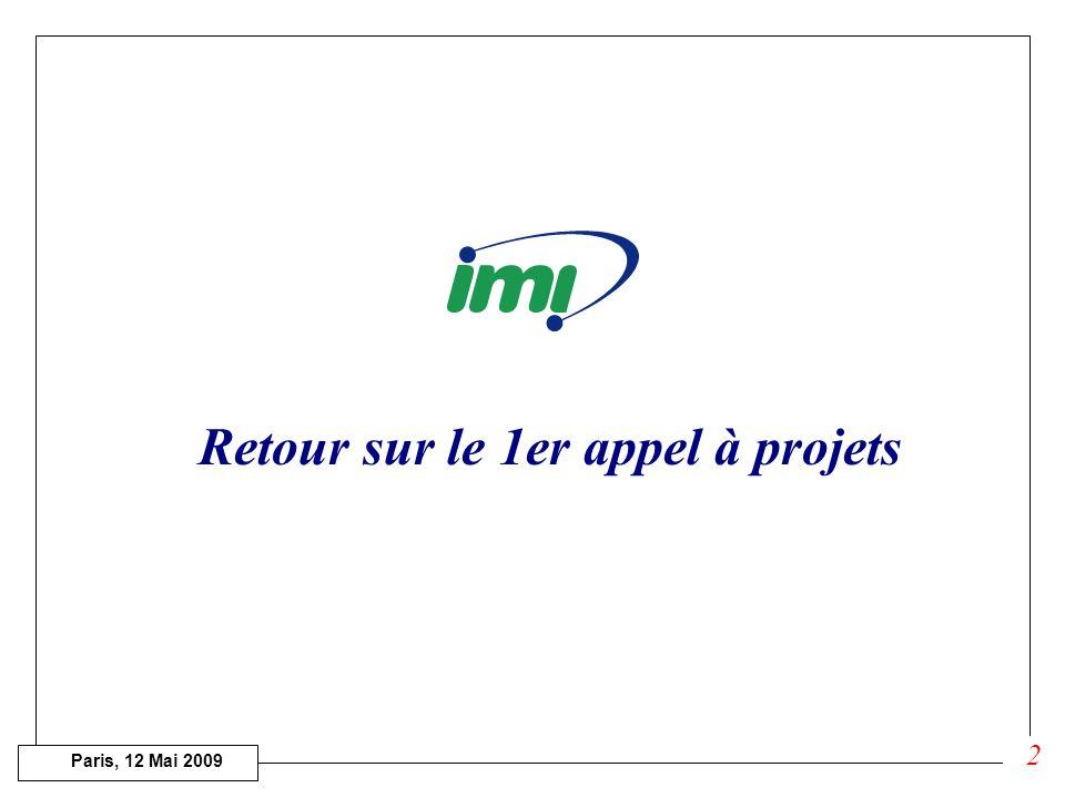 Paris, 12 Mai 2009 Réunion du GTN IMI « Maladies infectieuses » Institut Pasteur 12 Mai 2009 1