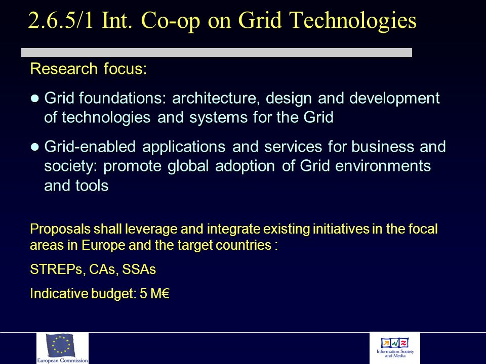 Research focus: Grid foundations: architecture, design and development of technologies and systems for the Grid Grid foundations: architecture, design
