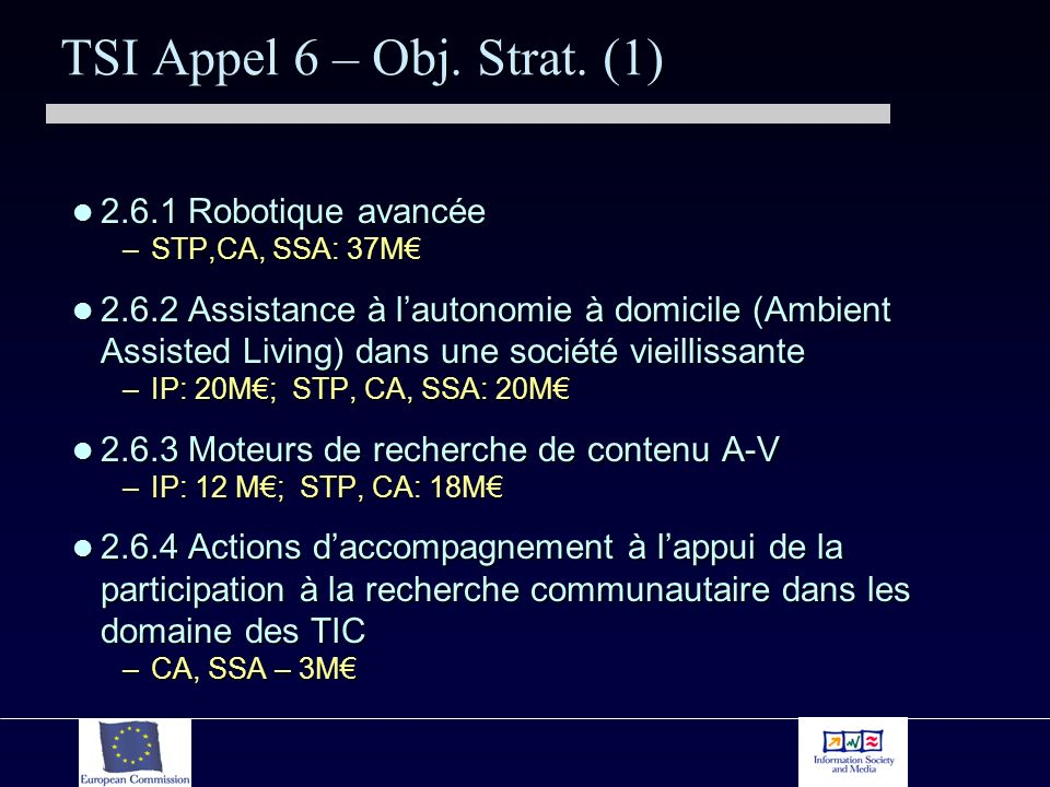 TSI Appel 6: Coopération internationale 2.6.5/1 Coop.