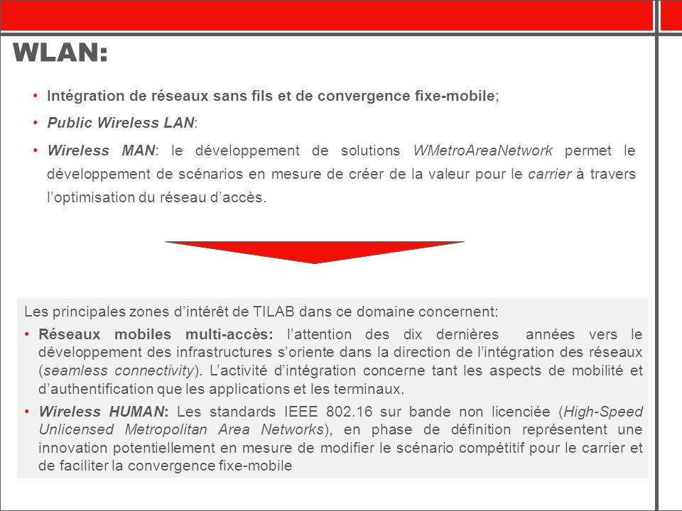 Logiciels dentreprise: Les principales zones dintérêt de TILAB à cet égard concernent: Les solutions de connectivité IP qui garantissent la fiabilité, la sécurité et la sauvegarde des données et des applications critiques.