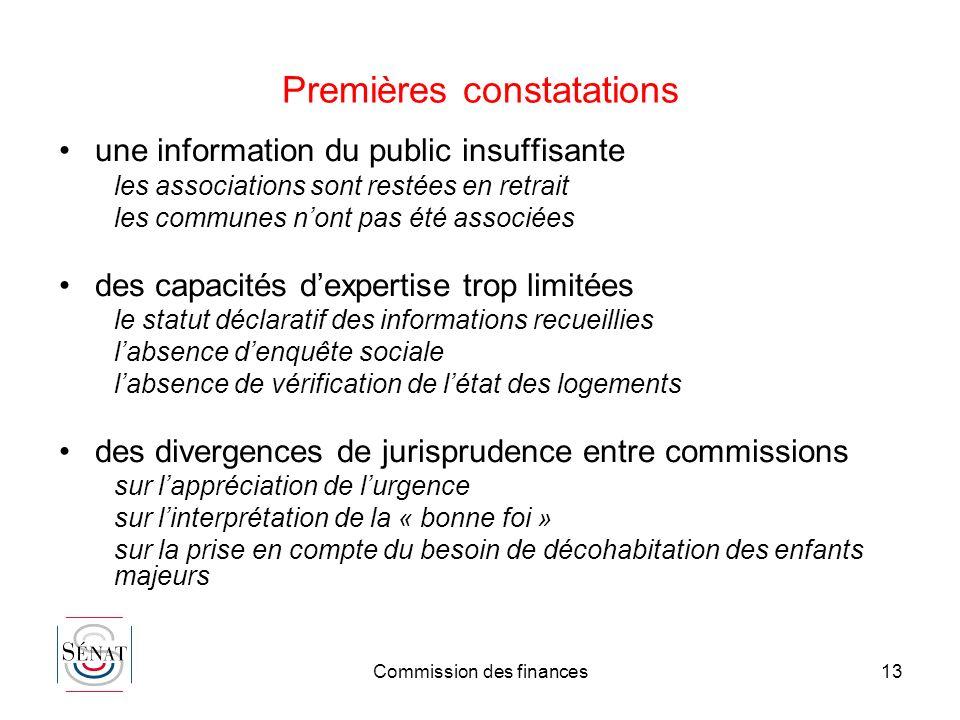 Commission des finances13 Premières constatations une information du public insuffisante les associations sont restées en retrait les communes nont pa