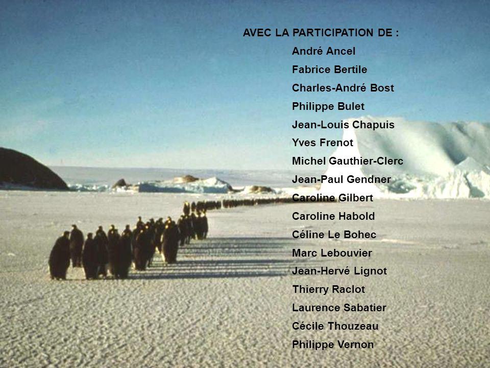 AVEC LA PARTICIPATION DE : André Ancel Fabrice Bertile Charles-André Bost Philippe Bulet Jean-Louis Chapuis Yves Frenot Michel Gauthier-Clerc Jean-Pau