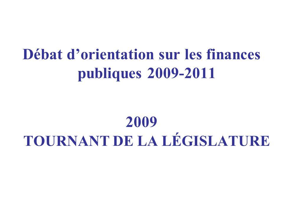 Débat dorientation sur les finances publiques 2009-2011 2009 TOURNANT DE LA LÉGISLATURE
