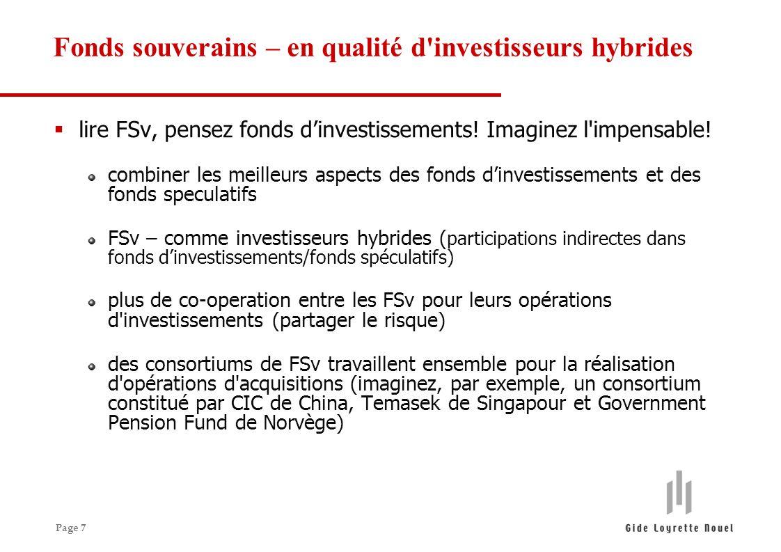 Page 7 lire FSv, pensez fonds dinvestissements. Imaginez l impensable.