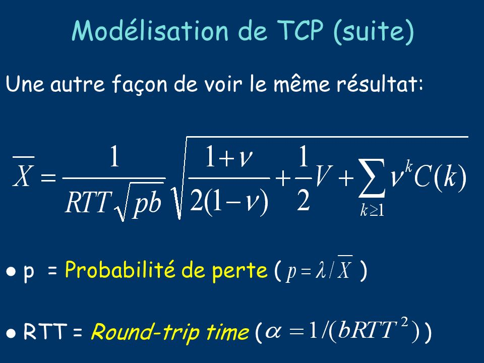 Simulation/Experiments Ns-2 simulation Testbed implementation implemented various packet marking and multi-RED on Linux 2.2.10 kernel Model validation round-trip time 100~400ms wide range of loss rates Bernoulli loss model buffer overflow large number of TCP flows Sprint ATL Testbed Configuration To validate analytical model