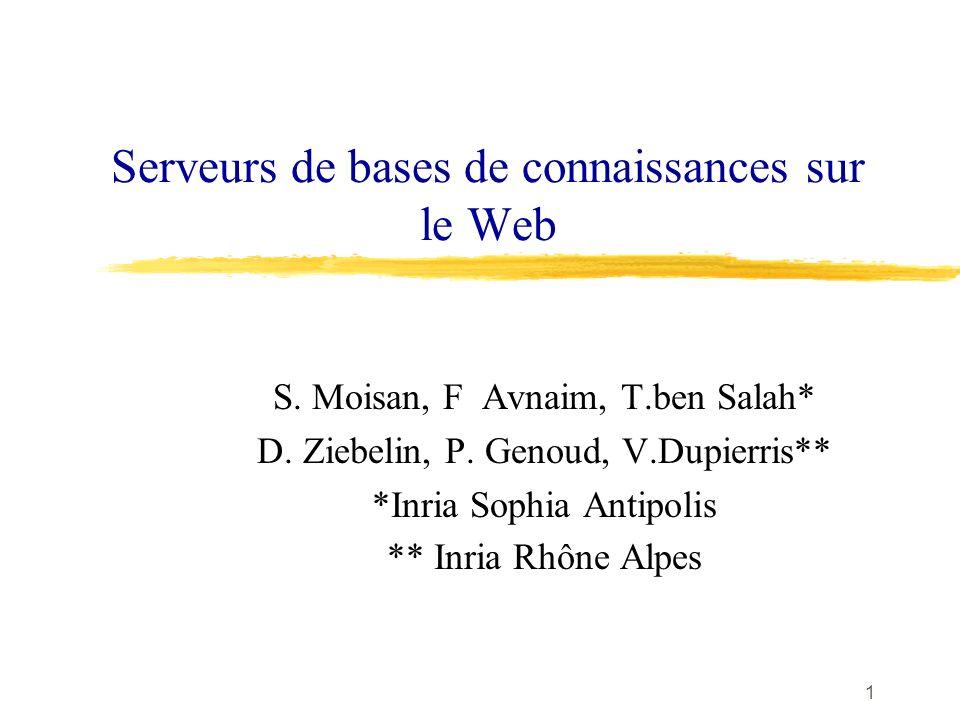 1 Serveurs de bases de connaissances sur le Web S.