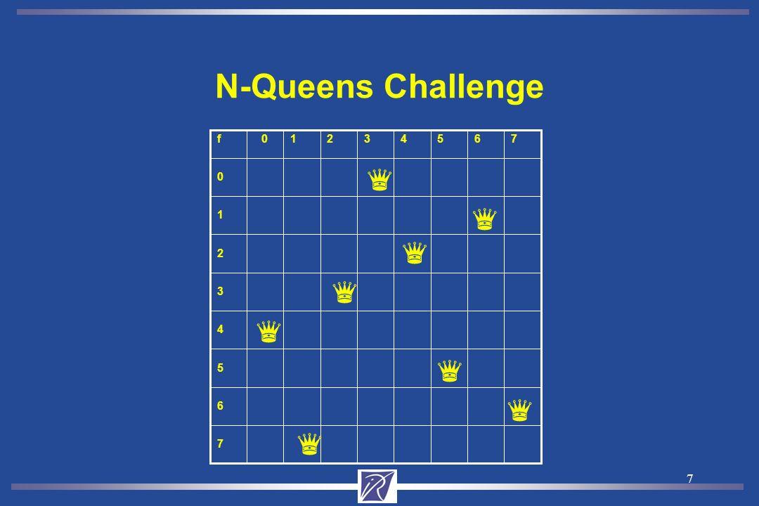 7 N-Queens Challenge 7 6 5 4 3 2 1 0 f76543210