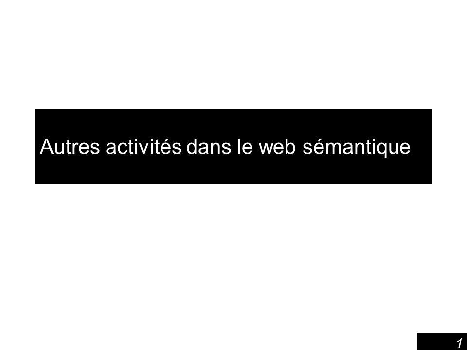 1 Autres activités dans le web sémantique