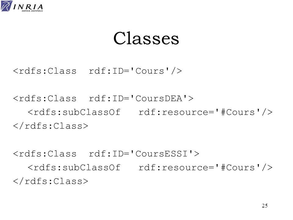 25 Classes