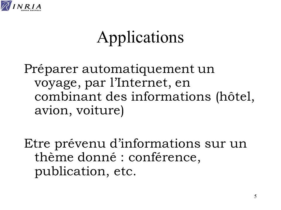 86 Bibliographie www.w3.org/XML www.w3.org/RDF http://www.w3.org/2001/sw/ www.oasis-open.org Méthodes et outils pour la gestion des connaissances, R.