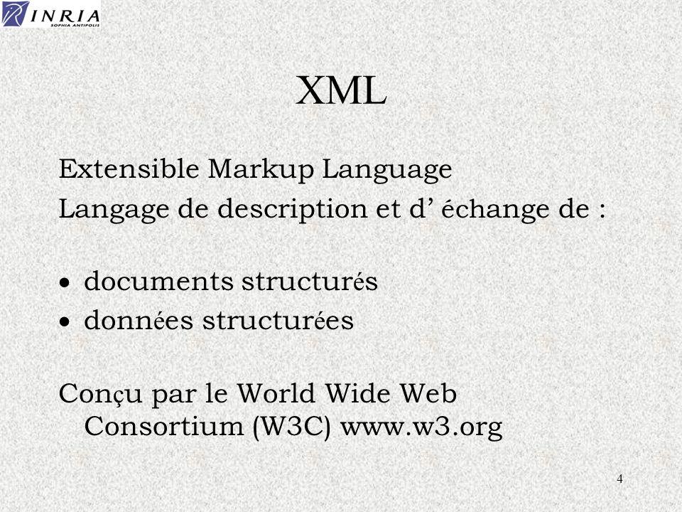 25 Requêtes A la OQL (Object Query Language) select c.num, p.nom from c Cours, p Personne where c.titre like 'connaissance' and p.institut = 'INRIA'