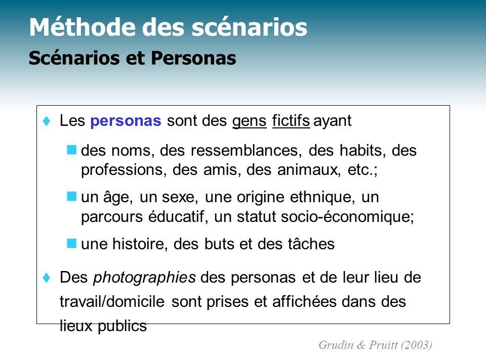 t Les personas sont des gens fictifs ayant des noms, des ressemblances, des habits, des professions, des amis, des animaux, etc.; un âge, un sexe, une