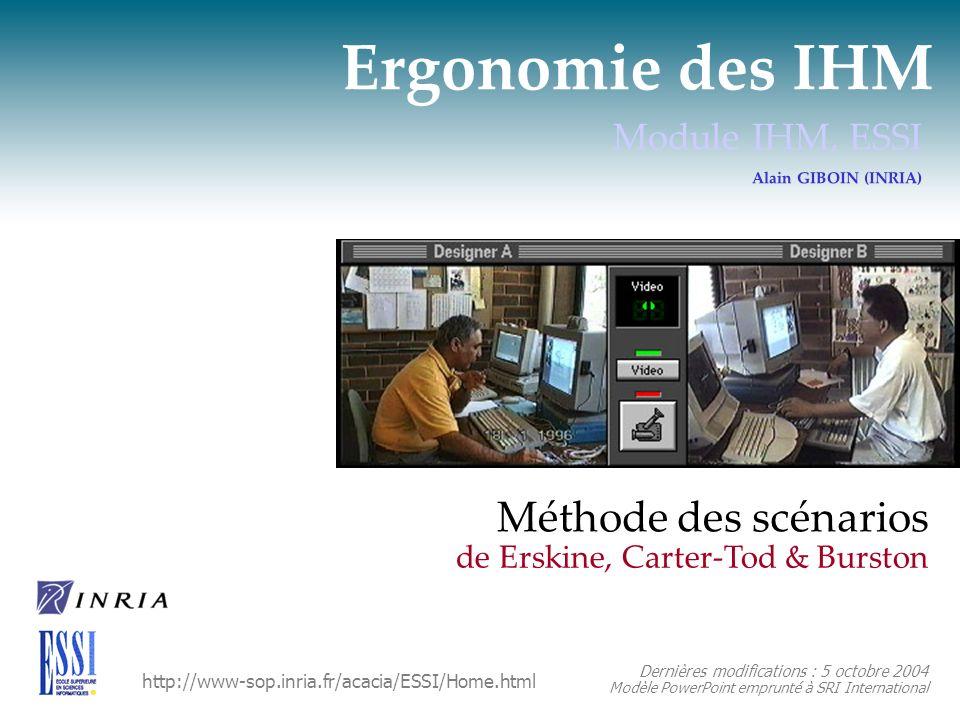 Méthode de Erskine et al. Étapes 7 et 8 : évaluation et reconception du site