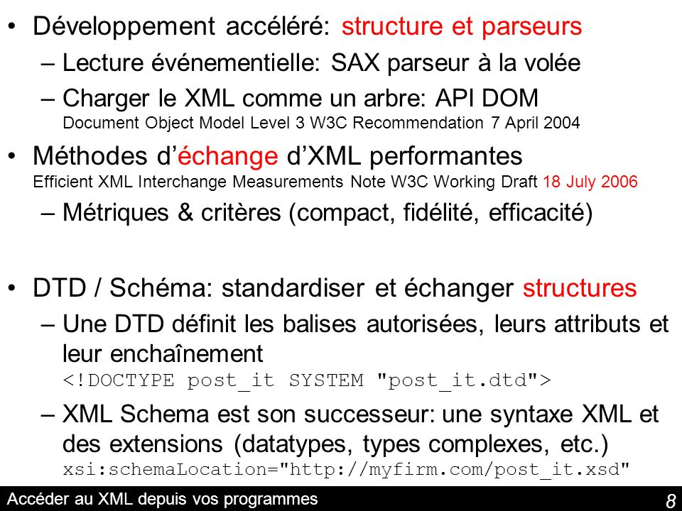 89 Sadapter aux terminaux Sélection du contenu en contexte Content Selection for Device Independence (DISelect) 1.0 W3C Working Draft 10 October 2006 The flooding was quite extensive.