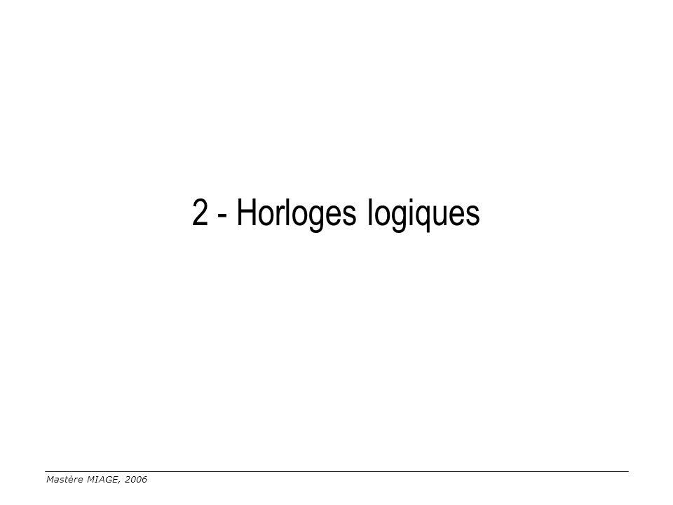 Mastère MIAGE, 2006 2 - Horloges logiques
