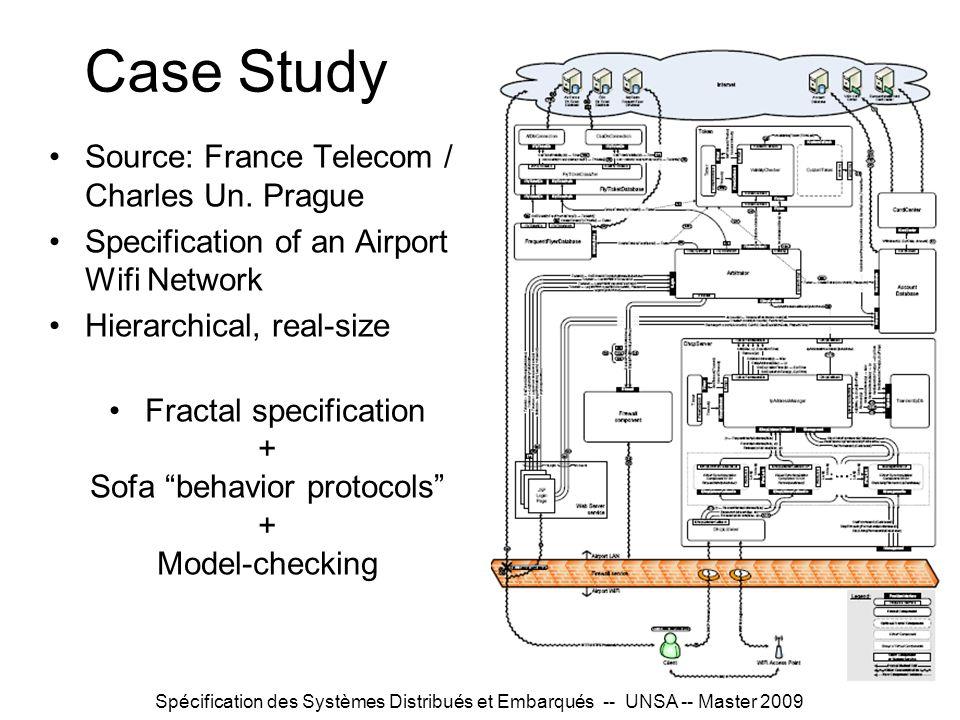 Spécification des Systèmes Distribués et Embarqués -- UNSA -- Master 2009 Case Study Source: France Telecom / Charles Un. Prague Specification of an A