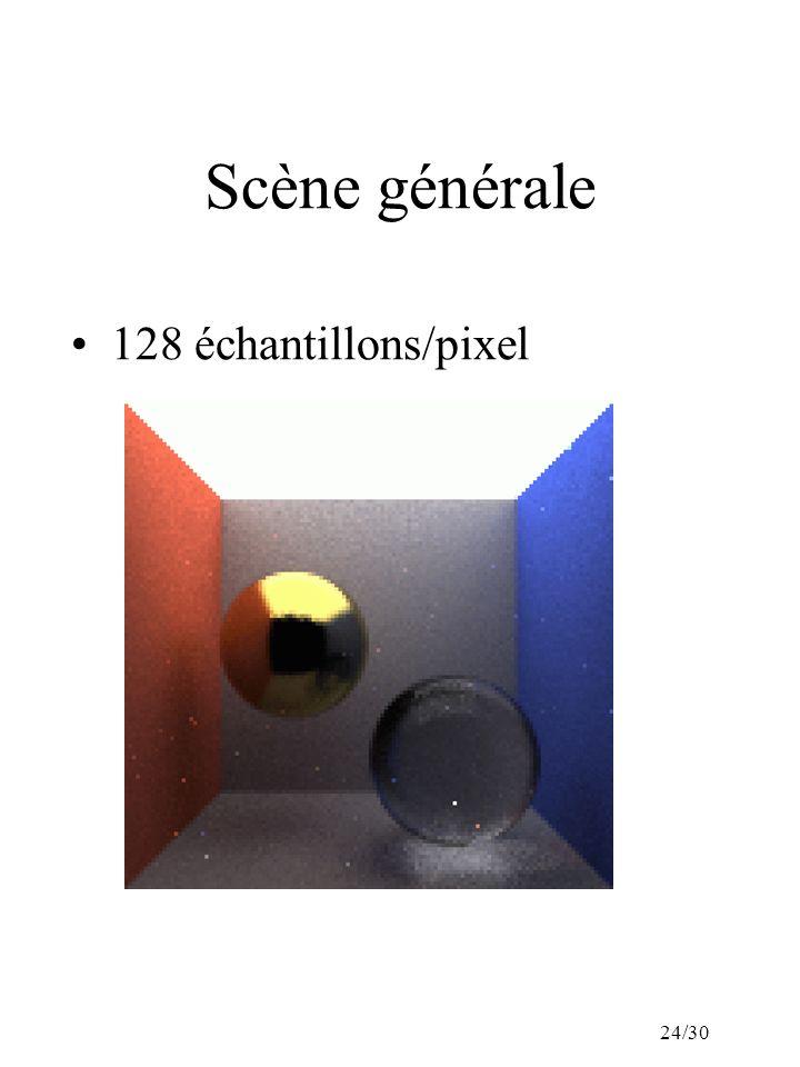 24/30 Scène générale 128 échantillons/pixel