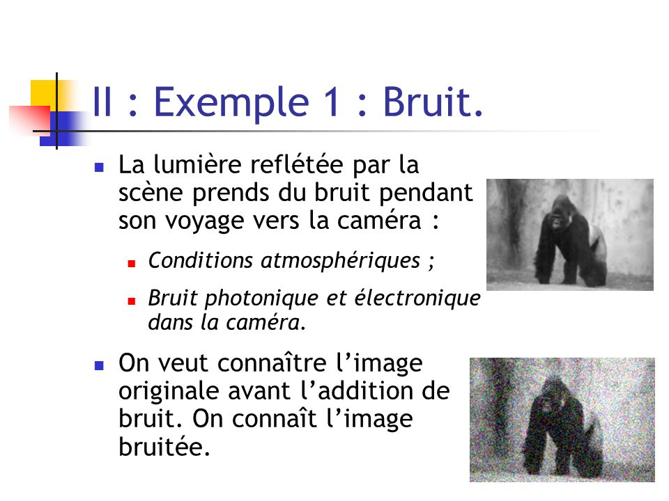 II : Exemple 1 : Bruit.