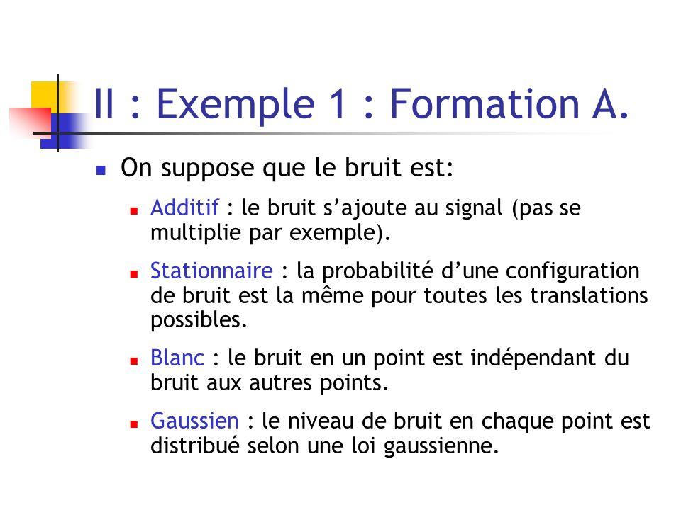 II : Exemple 1 : Formation B.Le bruit est un MRF trivial.