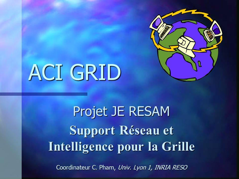 ACI GRID Projet JE RESAM Support Réseau et Intelligence pour la Grille Coordinateur C. Pham, Univ. Lyon 1, INRIA RESO