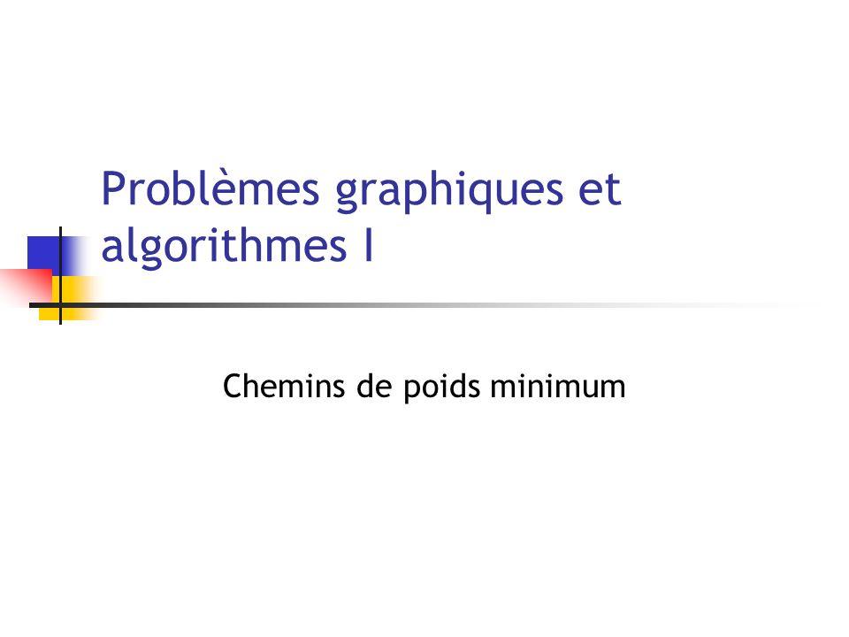 Problèmes graphiques et algorithmes I Chemins de poids minimum