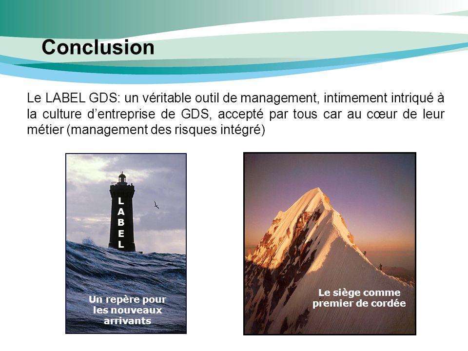 Conclusion Le LABEL GDS: un véritable outil de management, intimement intriqué à la culture dentreprise de GDS, accepté par tous car au cœur de leur m