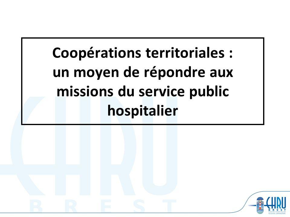 Coopérations territoriales : un moyen de répondre aux missions du service public hospitalier