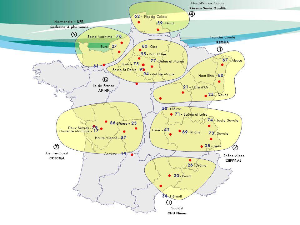 62 - Pas de Calais 71- Saône et Loire Creuse - 23 38 - Isère 25 - Doubs Haute Vienne - 87 74 - Haute Savoie Paris - 75 Seine Maritime - 76 Haut Rhin -