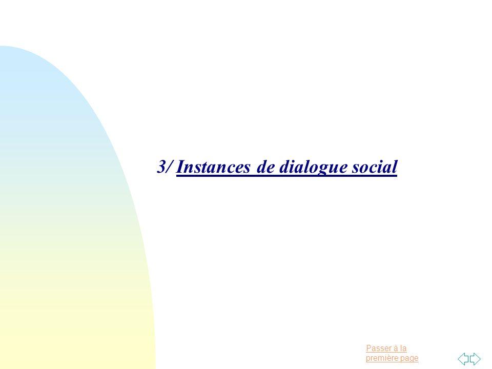 Passer à la première page 3/ Instances de dialogue social