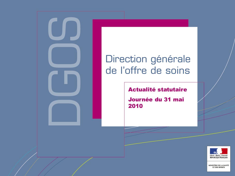 Direction générale de loffre de soins Actualité statutaire Journée du 31 mai 2010