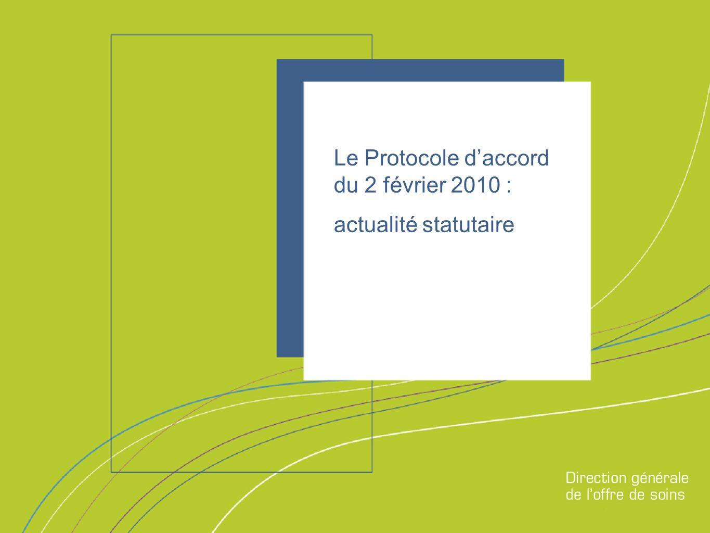 Direction générale de loffre de soins Le Protocole daccord du 2 février 2010 : actualité statutaire
