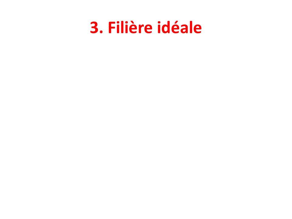 3. Filière idéale