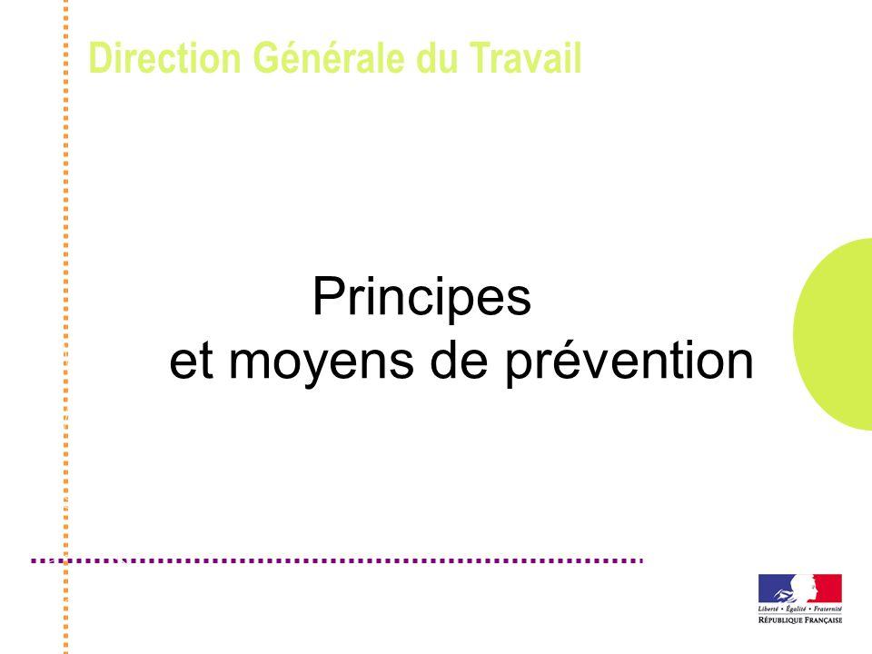 Direction Générale du Travail Principes et moyens de prévention