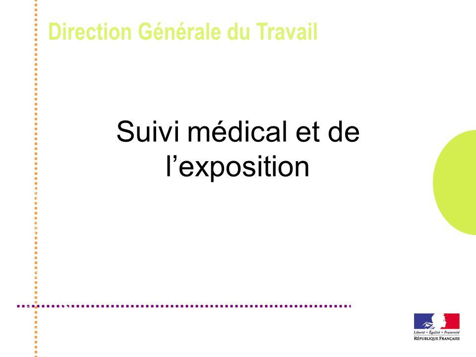 Direction Générale du Travail Suivi médical et de lexposition