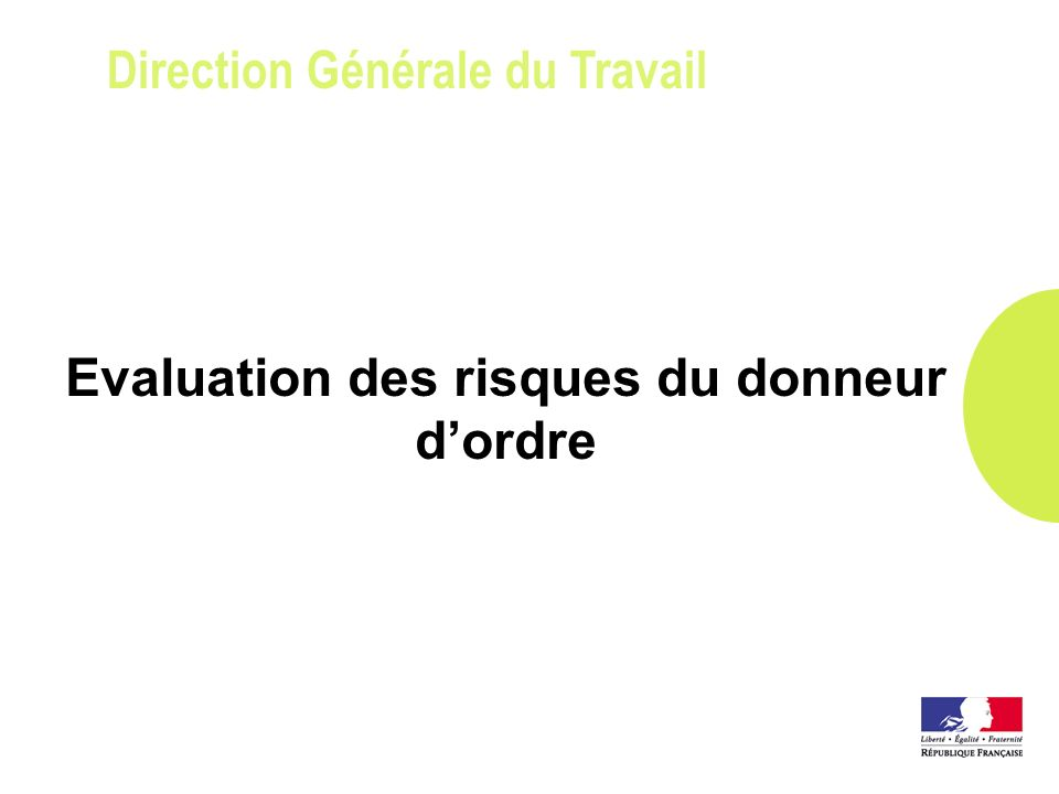 Direction Générale du Travail Protection de lenvironnement du chantier