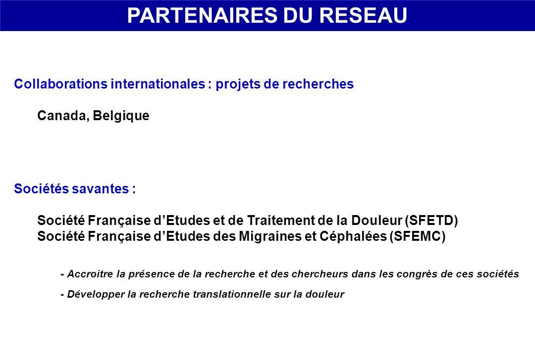 Sociétés savantes : Société Française dEtudes et de Traitement de la Douleur (SFETD) Société Française dEtudes des Migraines et Céphalées (SFEMC) - Ac
