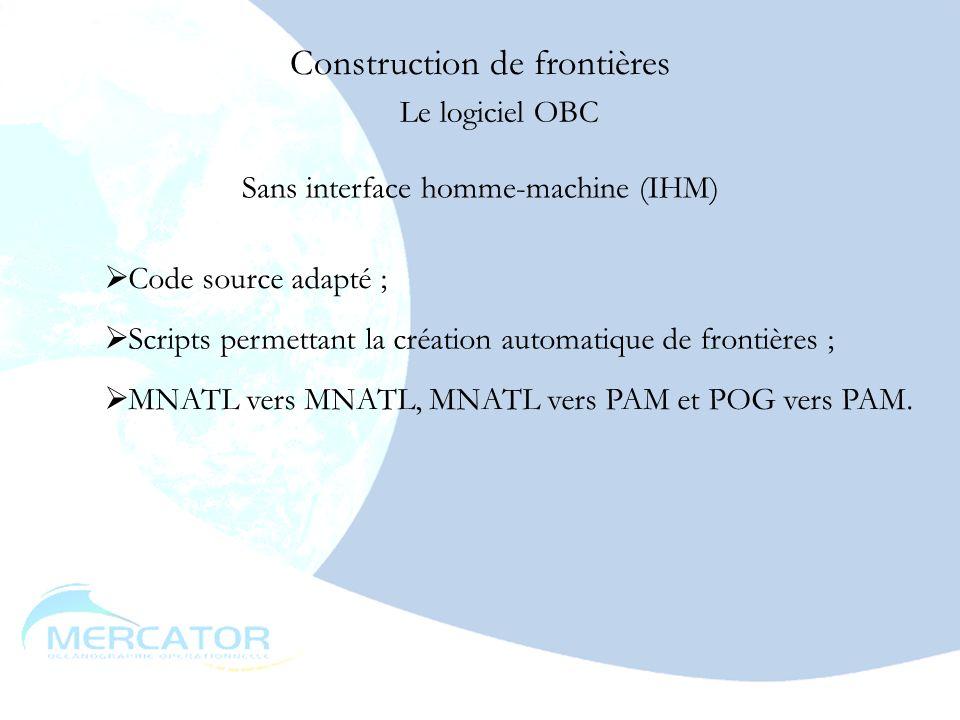 mai 20038 Théorie MNATL-OBC01 : les frontières ouvertes dans MNATL PAM-OBC01 et OBC02 : les frontières ouvertes dans PAM MNATL-OBC03 : les frontières variables dans MNATL PAM-OBC03 : les frontières variables dans PAM PAM-OBC04 : couplage avec POG Construction de frontières Conclusion