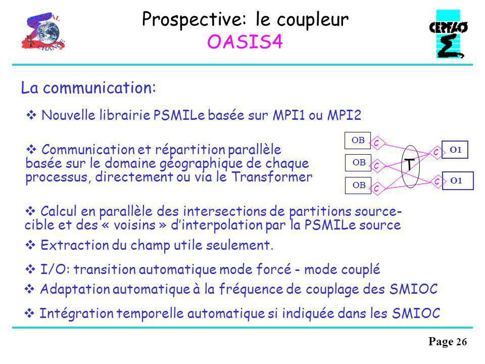 Page 25 Configuration dun modèle couplé avec OASIS4: Fichiers XML de description dun code: AD: Application Description PMIOD: Potential Model Input an
