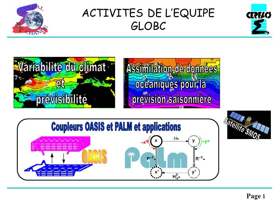Page 1 ACTIVITES DE LEQUIPE GLOBC