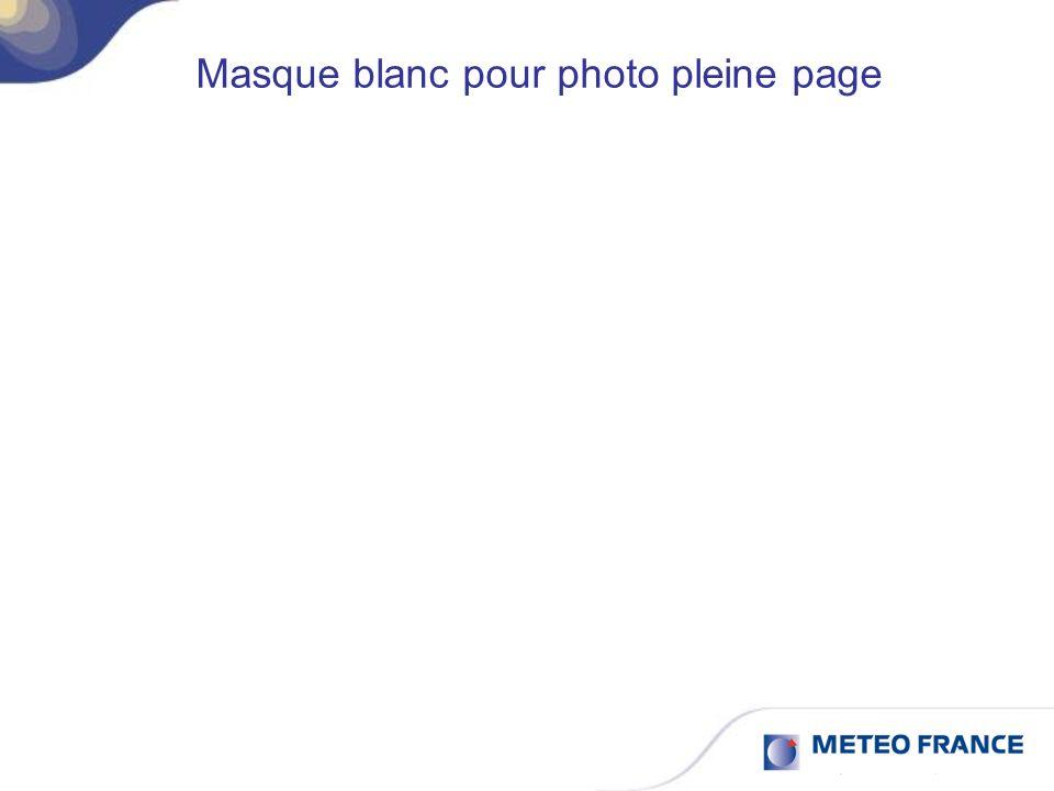Masque blanc pour photo pleine page